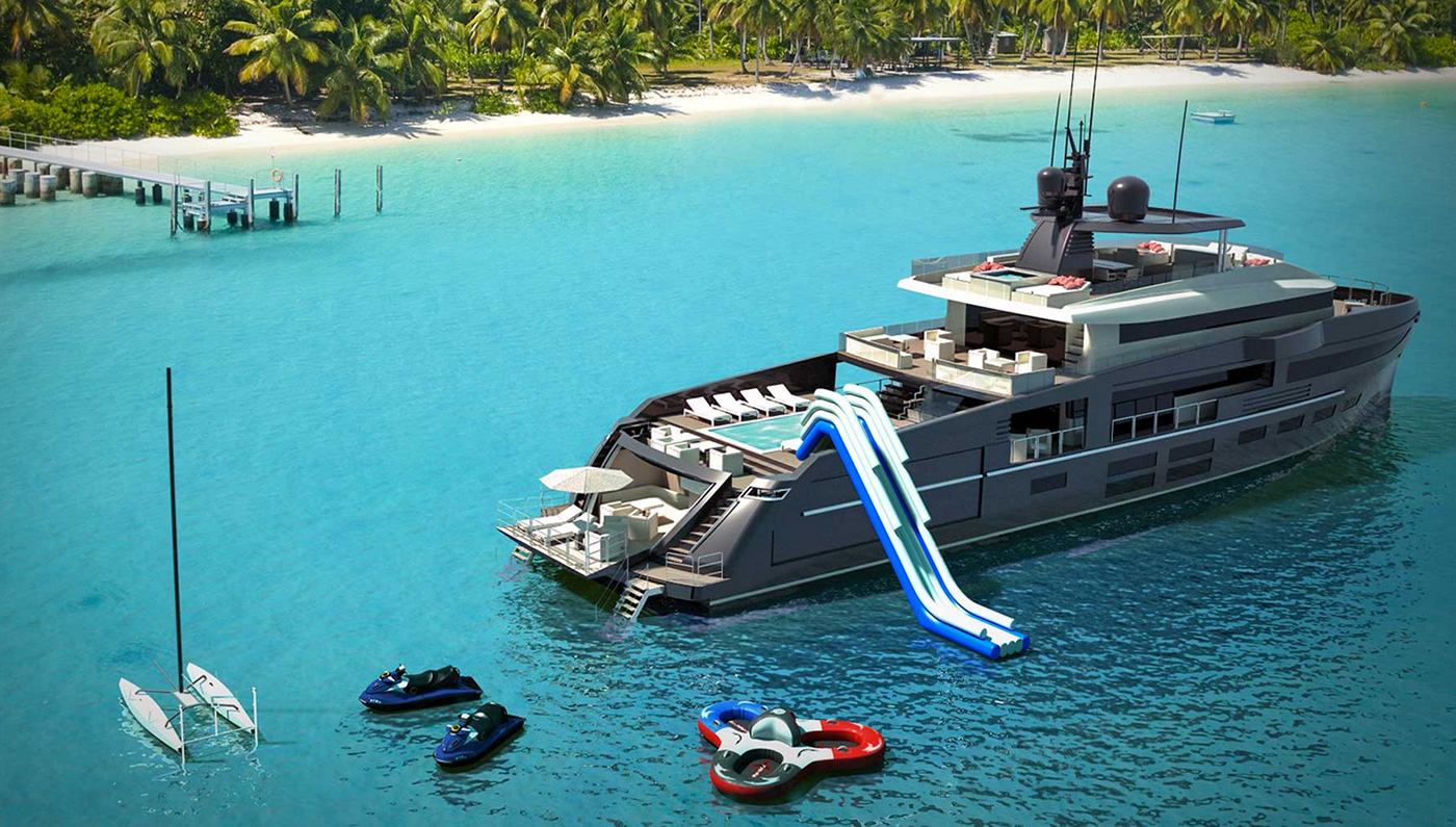 The 144-Foot OceaNemo Yacht Concept Really Is The Most Fun You Can Have at Sea