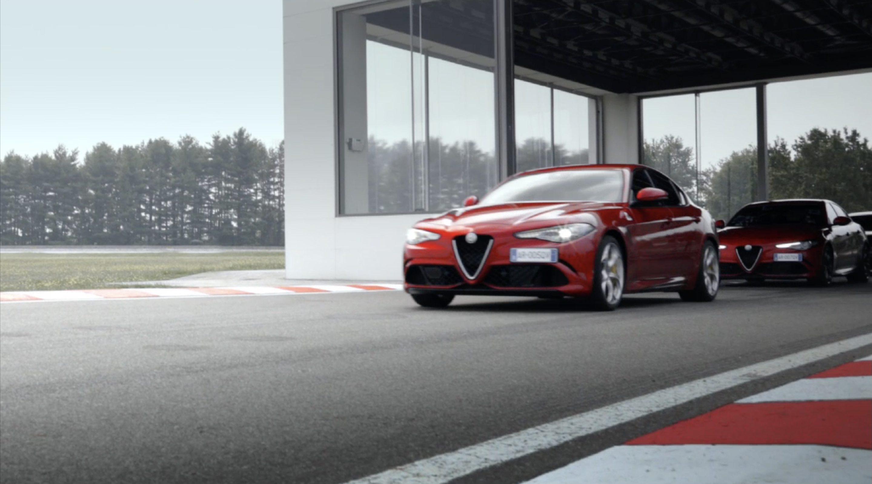 Watch the Alfa Romeo Giulia Quadrifoglio Make Kimi Raikkonen Smile