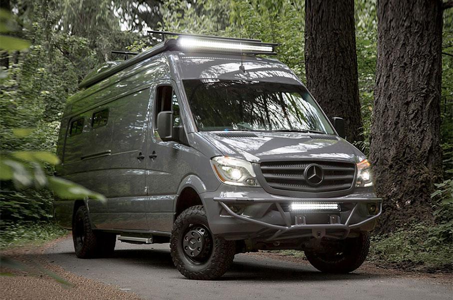 this luxury custom mercedes van is every traveller s dream. Black Bedroom Furniture Sets. Home Design Ideas