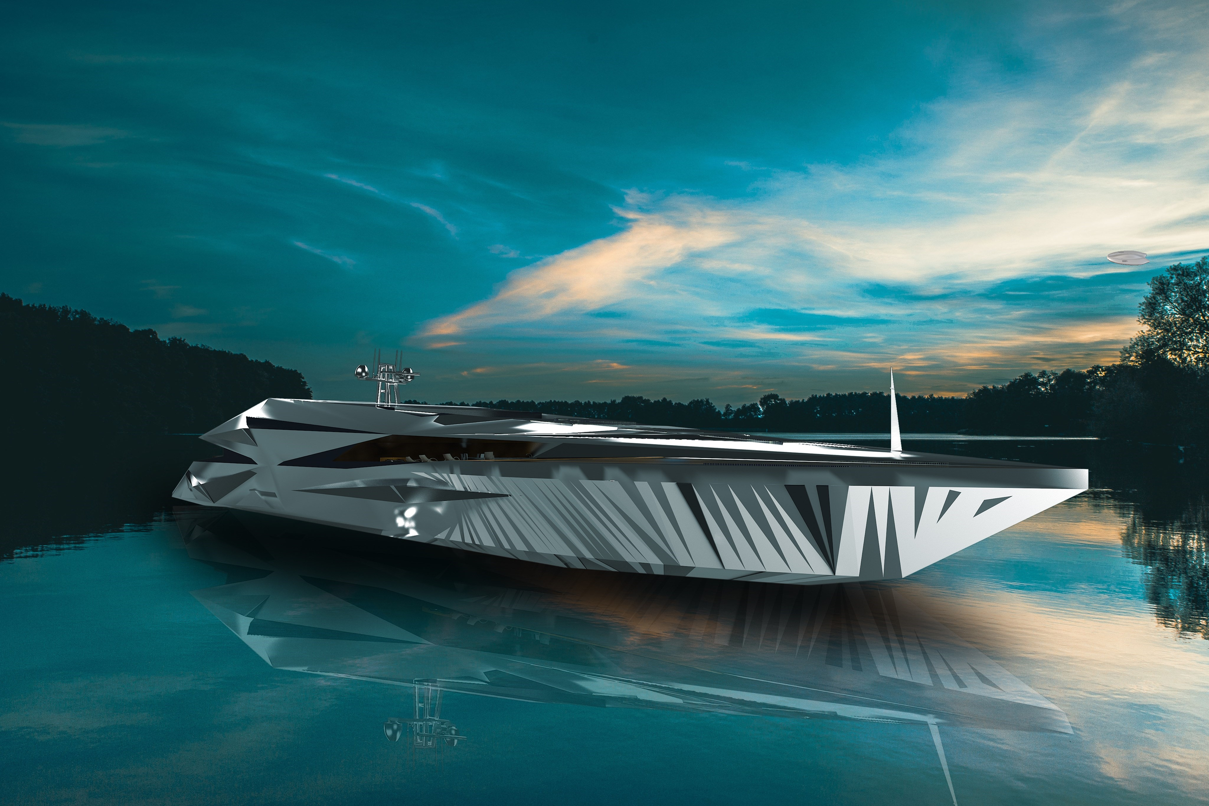Check out This Futuristic Yacht Concept from George Lucian