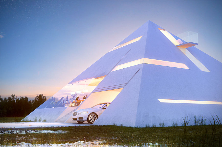 This Modern-Day Pyramid House Will Have Your Jaw on The Floor