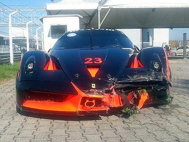 Someone Crashed This $3 Million Ferrari FXX At Monza In Italy
