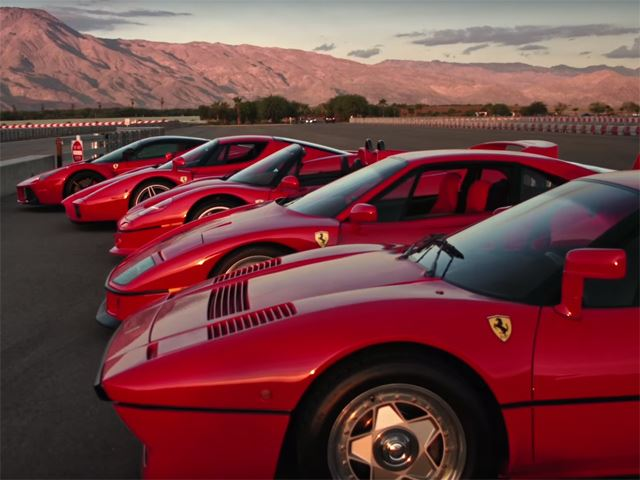 Watch this Ferrari LaFerrari Meet all of its Predecessors… And Race Them