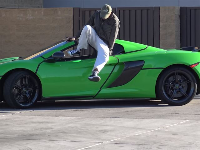 Shocking! Watch What Happens When These Guys Try to Steal A McLaren 650S Spider