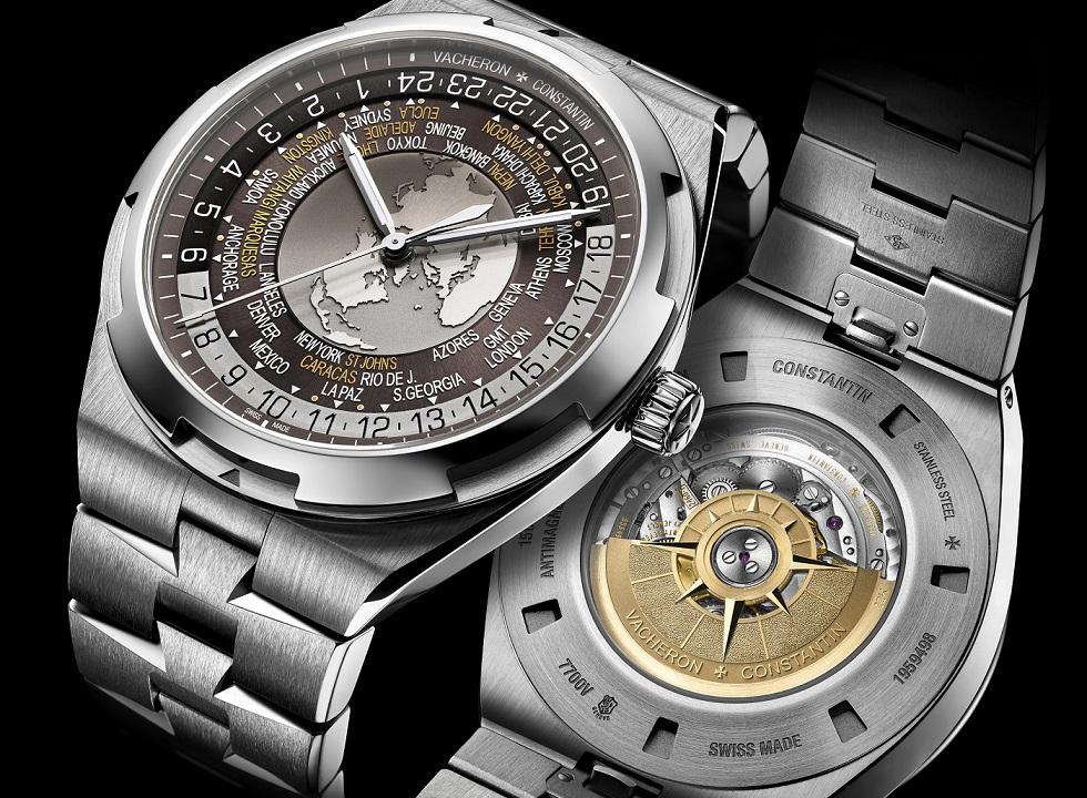 World Time Overseas marron 7700V-110A-B176