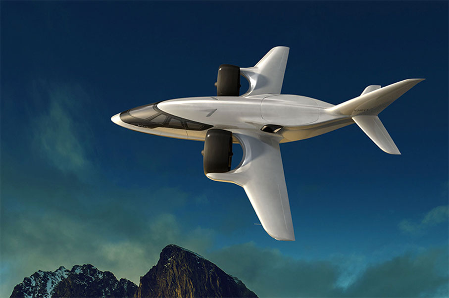 This New Luxury Private Airplane Can Take Off and Land From Your Tennis Court