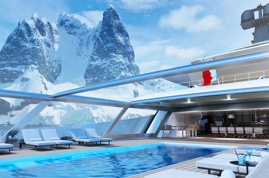 This Globe-Cruising SuperYacht Will Feature an Awesome Retractable Glass Top