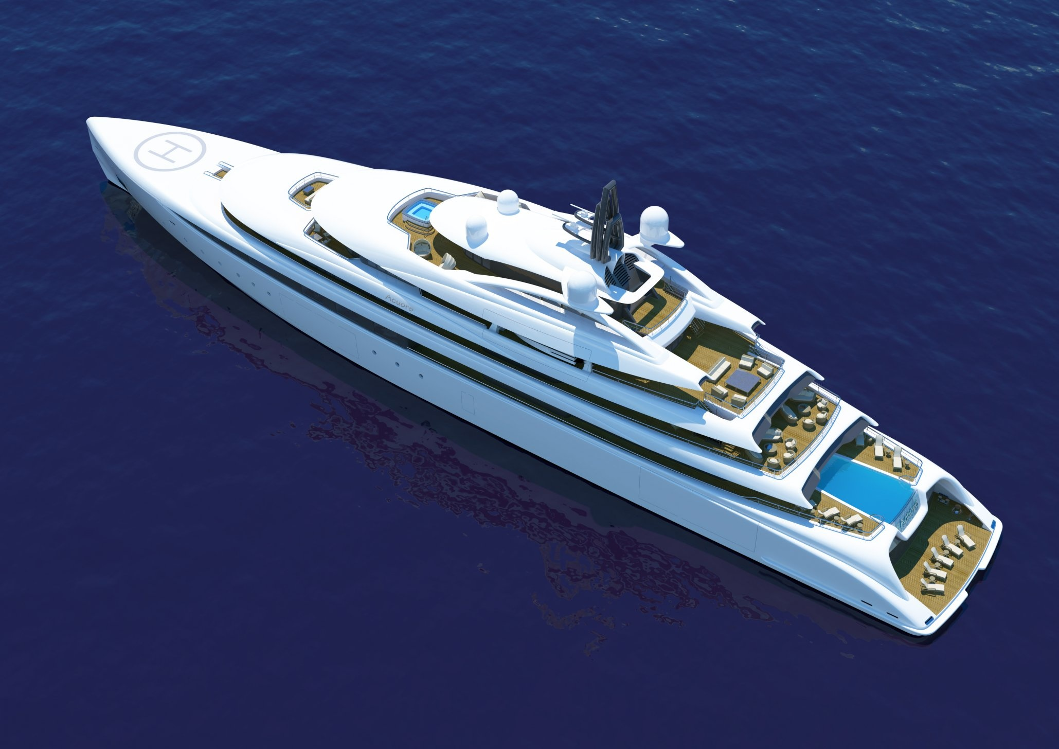 Meet the 360-Foot Superyacht with a Glass Shark Fin from Monaco