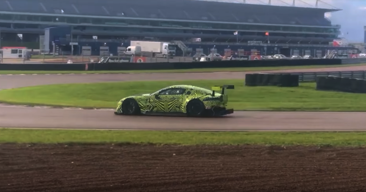 Aston Martin Caught Playing With New Race Car…