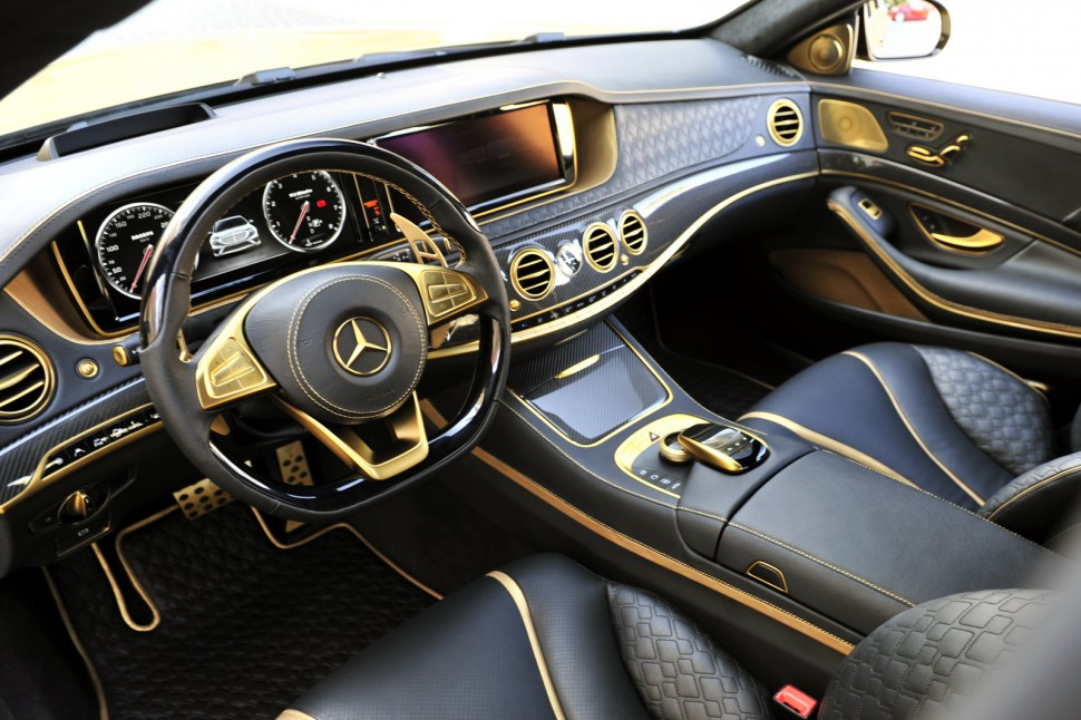 Check Out The Gold 900 Hp Luxury Mercedes Benz That Puts