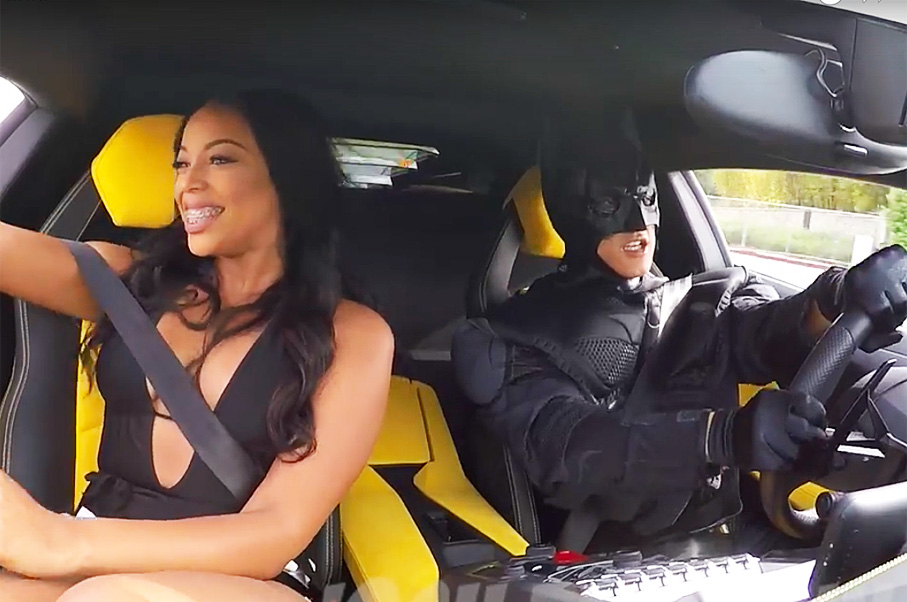 What Would You Do If Your Uber Showed Up As Batman in A Lamborghini?