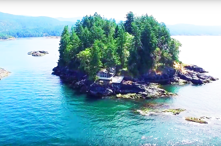 Own This Whole Island Near Vancouver with Orcas and Seals as Your Only Neighbours