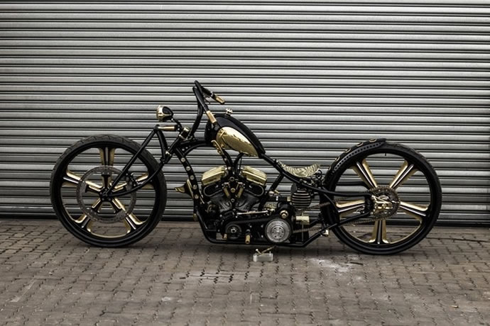 Check Out the $250,000 Gold-Digger Motorcycle—The World's First with 30-Inch Wheels