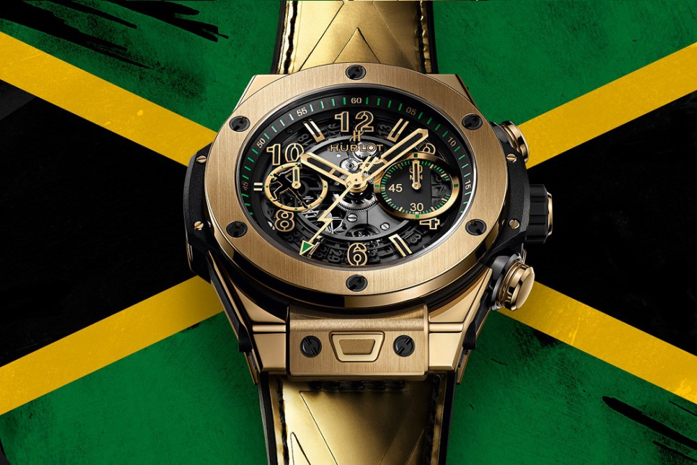 This Special Gold Hublot Big Bang Unico Usain Bolt Watch is Limited Edition Luxury
