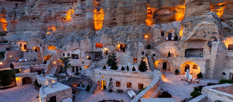 You Won't Believe This 5-Star Luxury Hotel Carved Into a Cave Exists