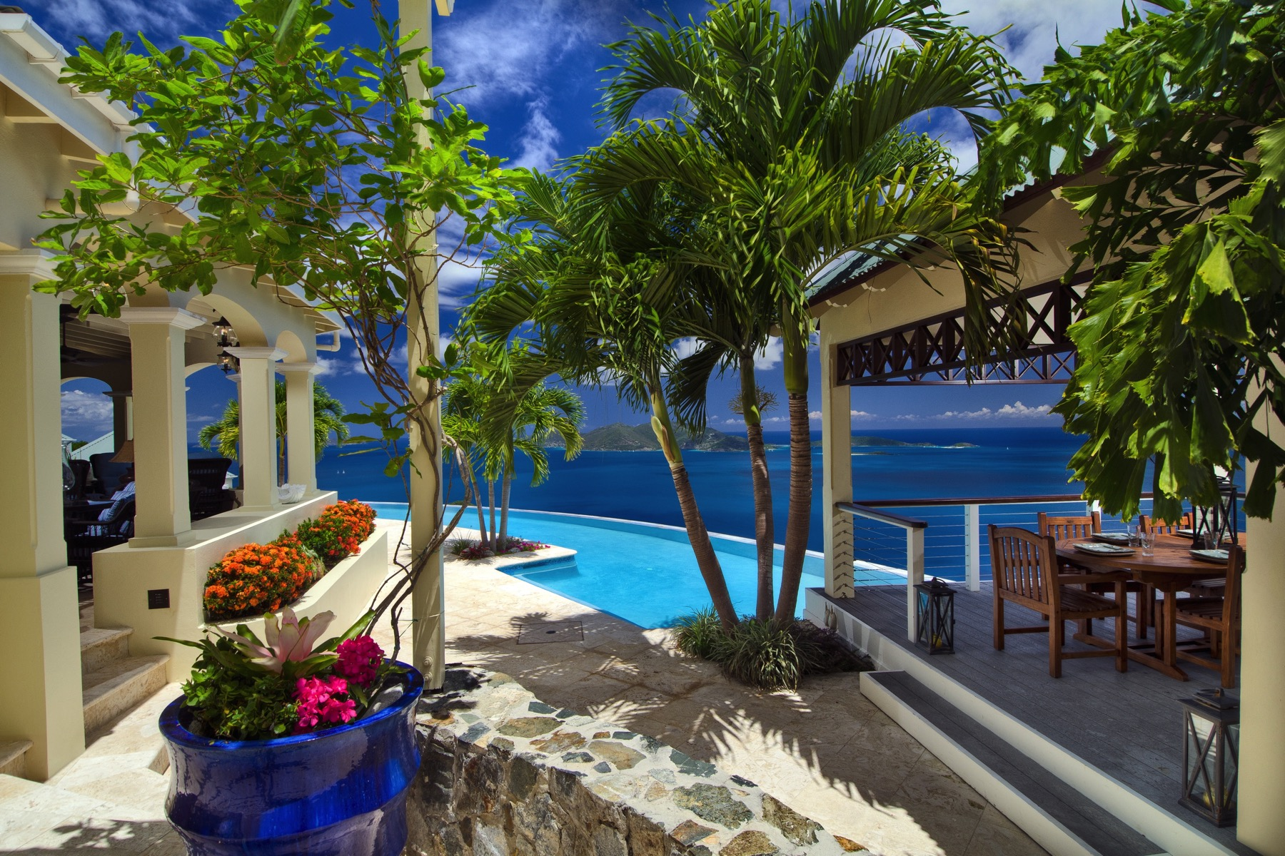 This Gorgeous Caribbean Estate Looks Out Over the Bluest Water in the World
