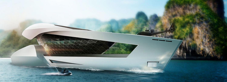 This Spaceship-Like SuperYacht Boasts a 1,000 Sq. Ft. SuperCar Garage