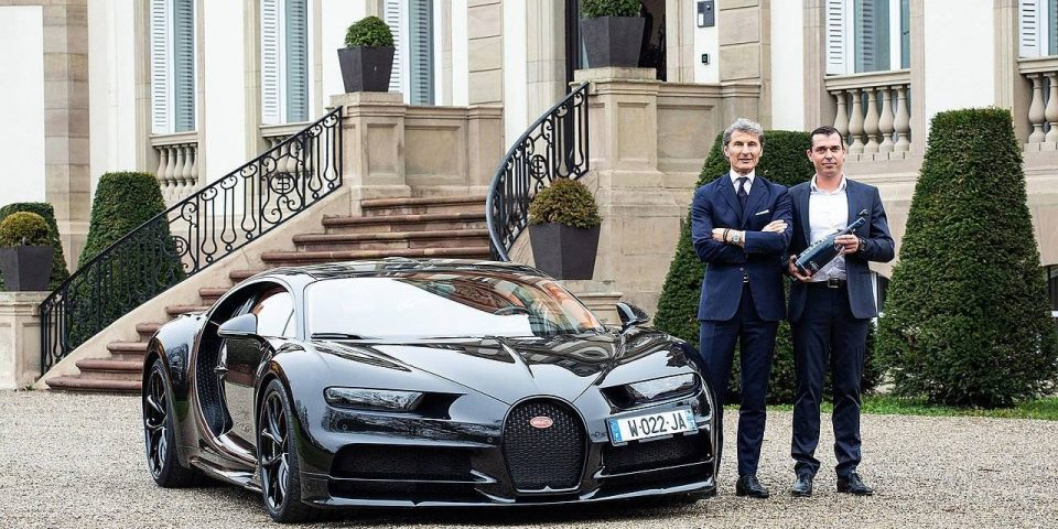 Bugatti Popping Bottles with Champagne Carbon