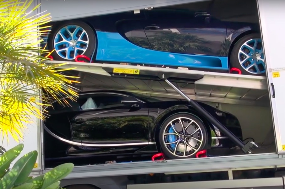 Watch and Listen as a New Bugatti Chiron Gets Unloaded in Monaco