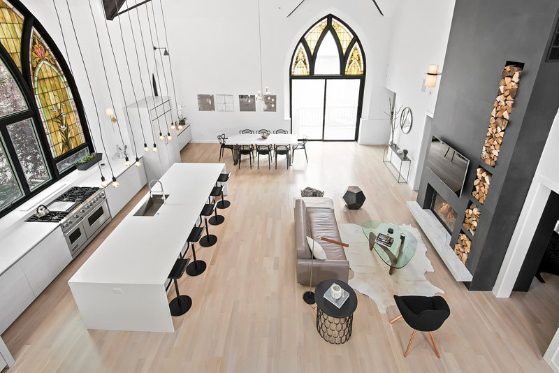 This Chicago Church Was Transformed into a Luxury Modern Family Home