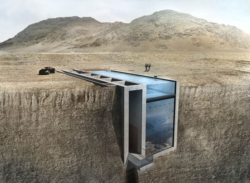 This Home Built into a Cliff is Both Insanely Luxurious and Terrifying