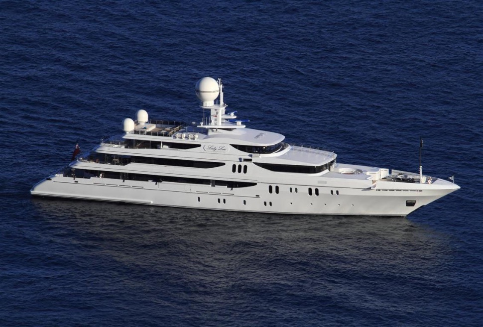 The 231-foot Lady Lau Super Yacht is a Floating Mega-Mansion