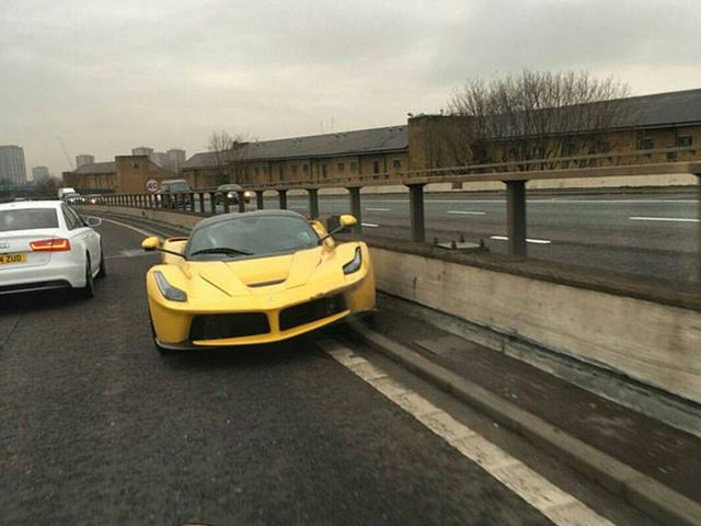 Ferrari LaFerrari Crashes Hard In London