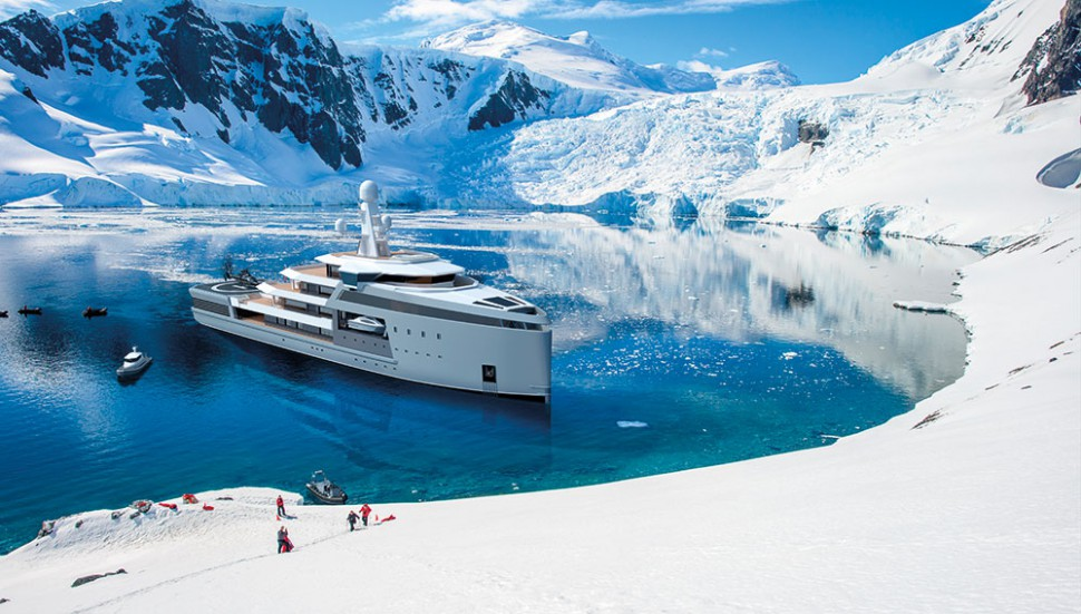 Seek Adventure Anywhere in World in This Ice-Breaking SuperYacht With its Own Helipad