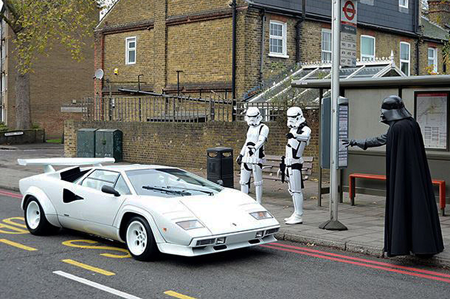 Why Has Darth Vader Stopped This Lamborghini Countach?