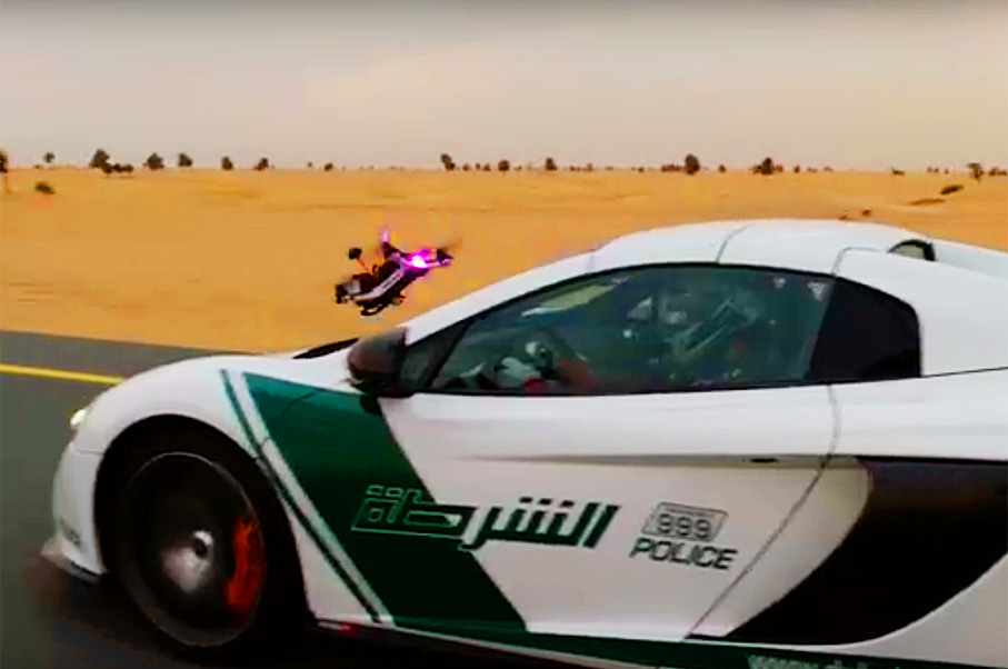 Watch This Drone Race a McLaren Police Car in Dubai
