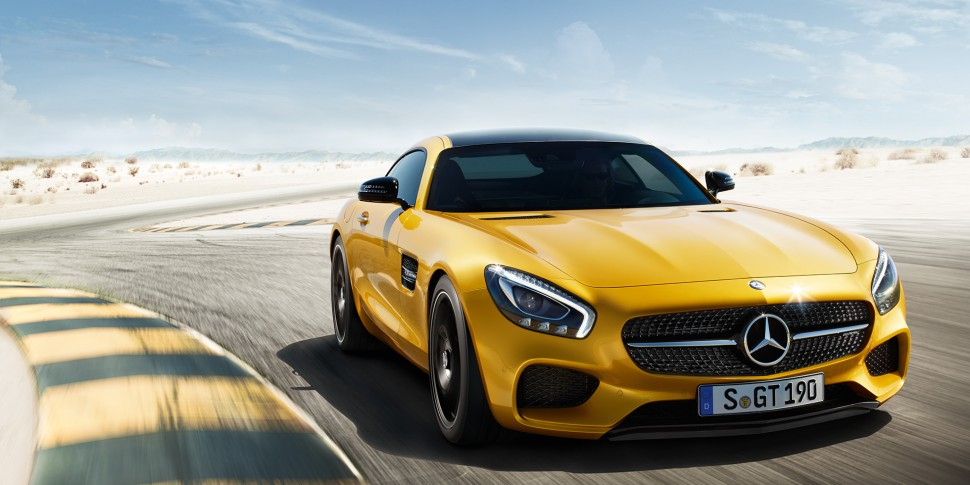 Watch this Mercedes-AMG GT S and C63 S Crash In Front of Buyers