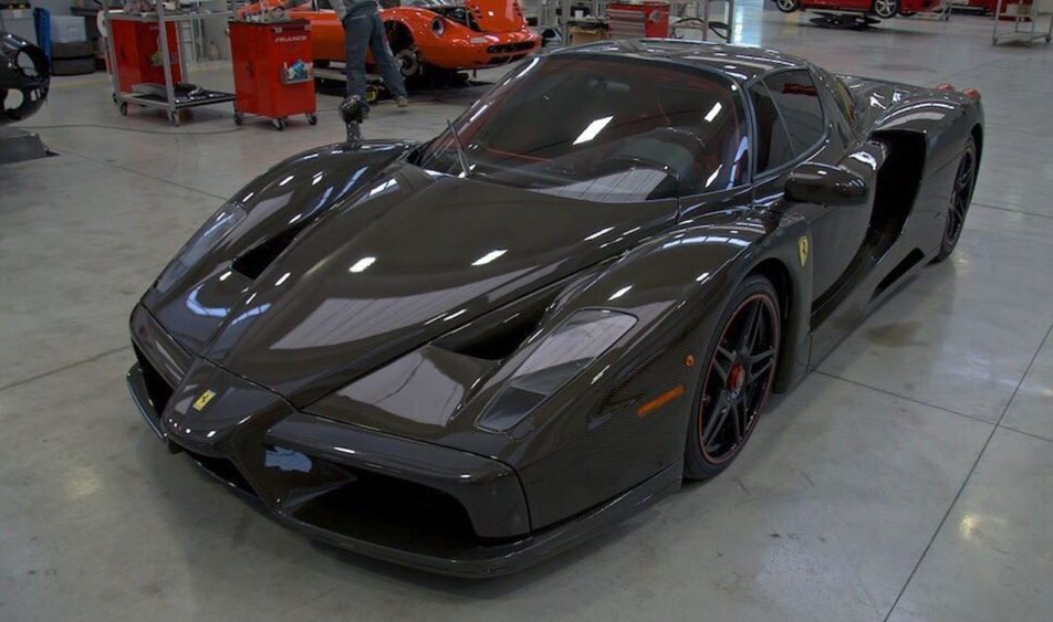 The Only Naked Carbon Fiber Ferrari Enzo in the World Just Went Up For Sale
