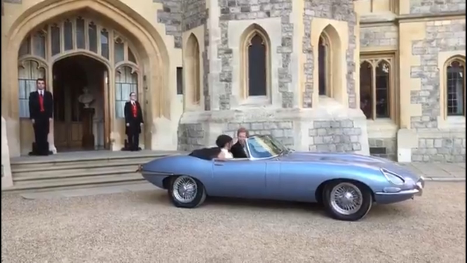 The Royal Couple Left Windsor Castle in an Electric Jag