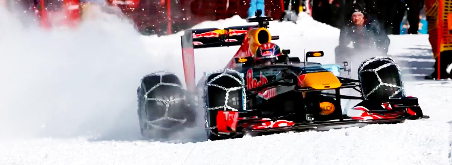 Watch This F1 Car Tear Up a Luxury Ski Resort in Austria