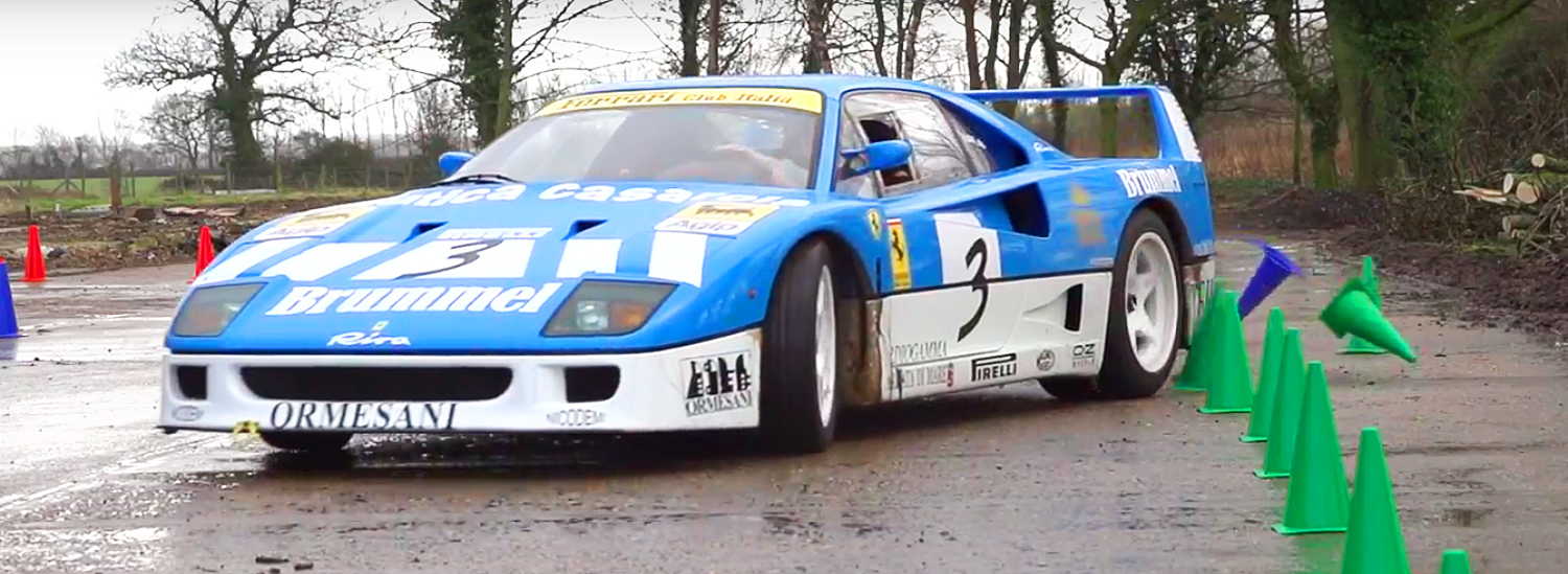 This Ferrari F40 GT Farmkhana Video is the Best Thing You'll See All Day