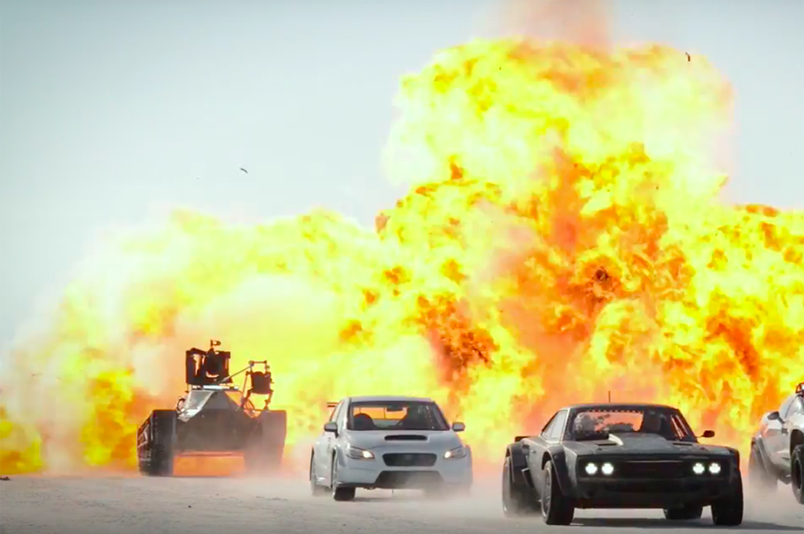 Watch Cars Fly and Explosions During Fast 8 Filming