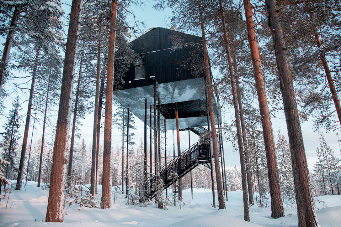 The Best View Of The Aurora Borealis is From This Treehouse
