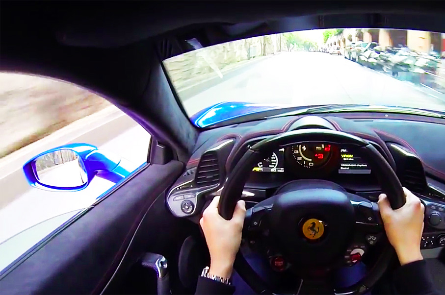 This POV Puts You in the Driver's Seat of a Ferrari 458 Speciale—In Monaco