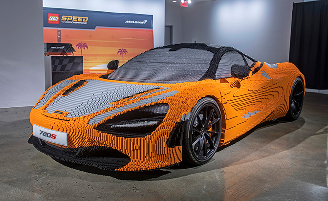 Full-Size LEGO McLaren 720S Weighs More Than the Real Thing