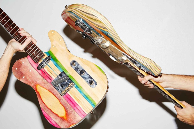 Made From Used Skateboard Decks, You've Never Seen Guitars Like This Before!