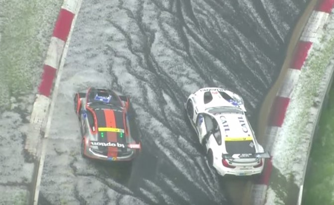 Watch Dozens of Cars Crash as Hail Wreaks Havoc on Nurburgring