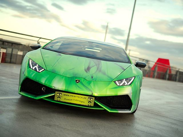 Is This Tricolor Wrap On a Lamborghini Huracan the Best You've Ever Seen?
