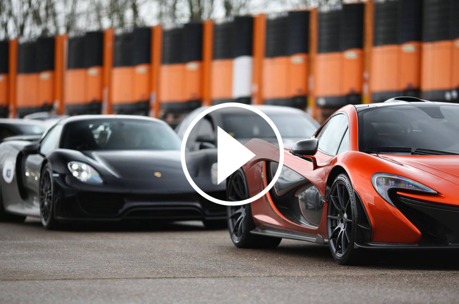 Watch The Hypercar Trio Battle it Out on the Drag Strip