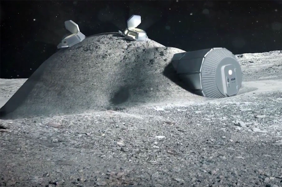 Bask in Constant Sunshine… At a Moon Village with the European Space Agency