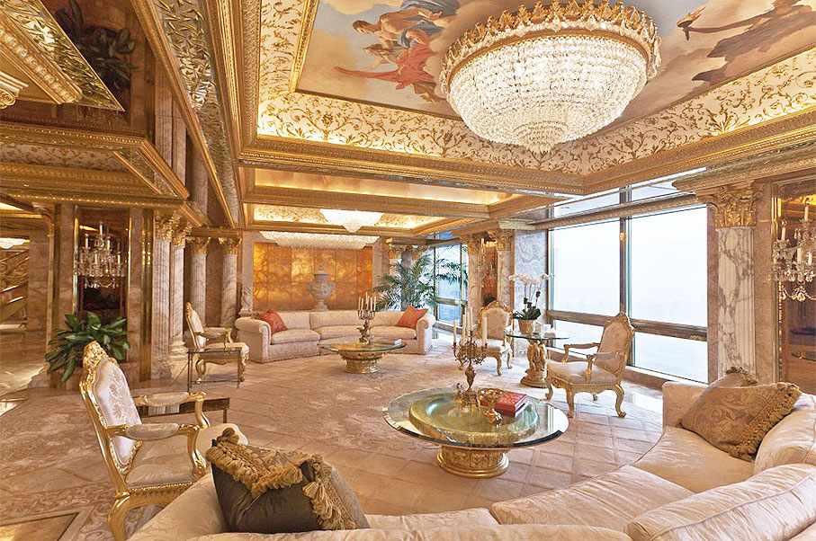 Peek Inside Donald Trump's Gold and Marble Covered Penthouse in New York
