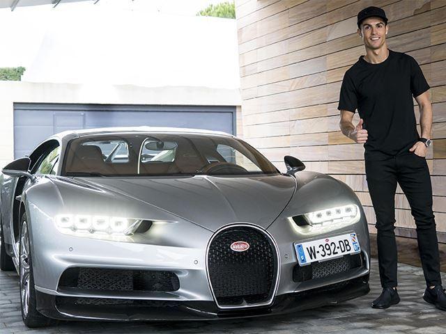 Cristiano Ronaldo Gets to Test Drive a Bugatti Chiron Because He's Cristiano Ronaldo