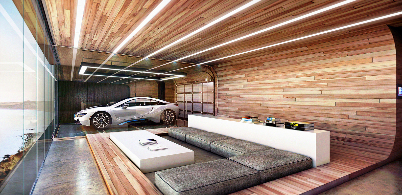 Inside Luxury Homes this house on a hill gives your favourite cars the view they