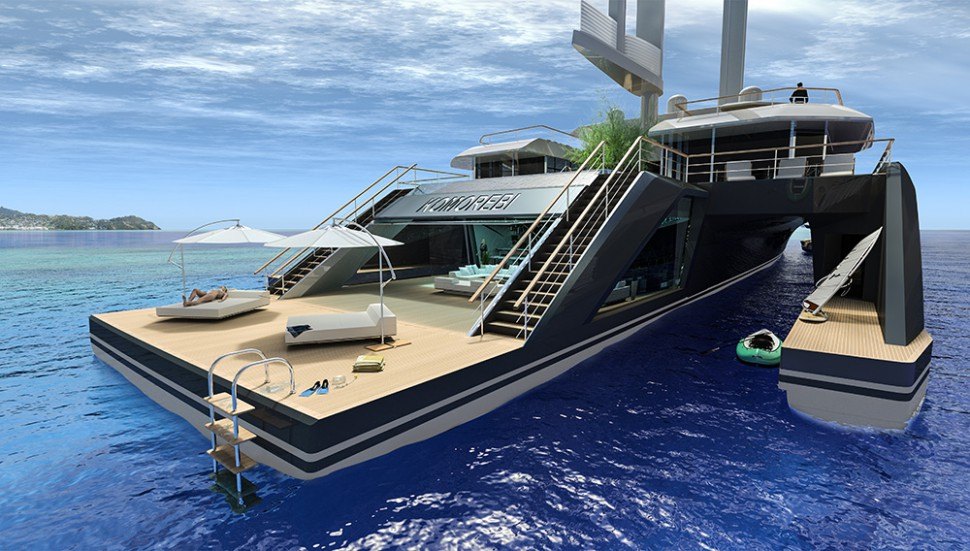 This Open-Concept Trimaran Superyacht Is Unlike Anything You've Ever Seen - Luxury4Play.com