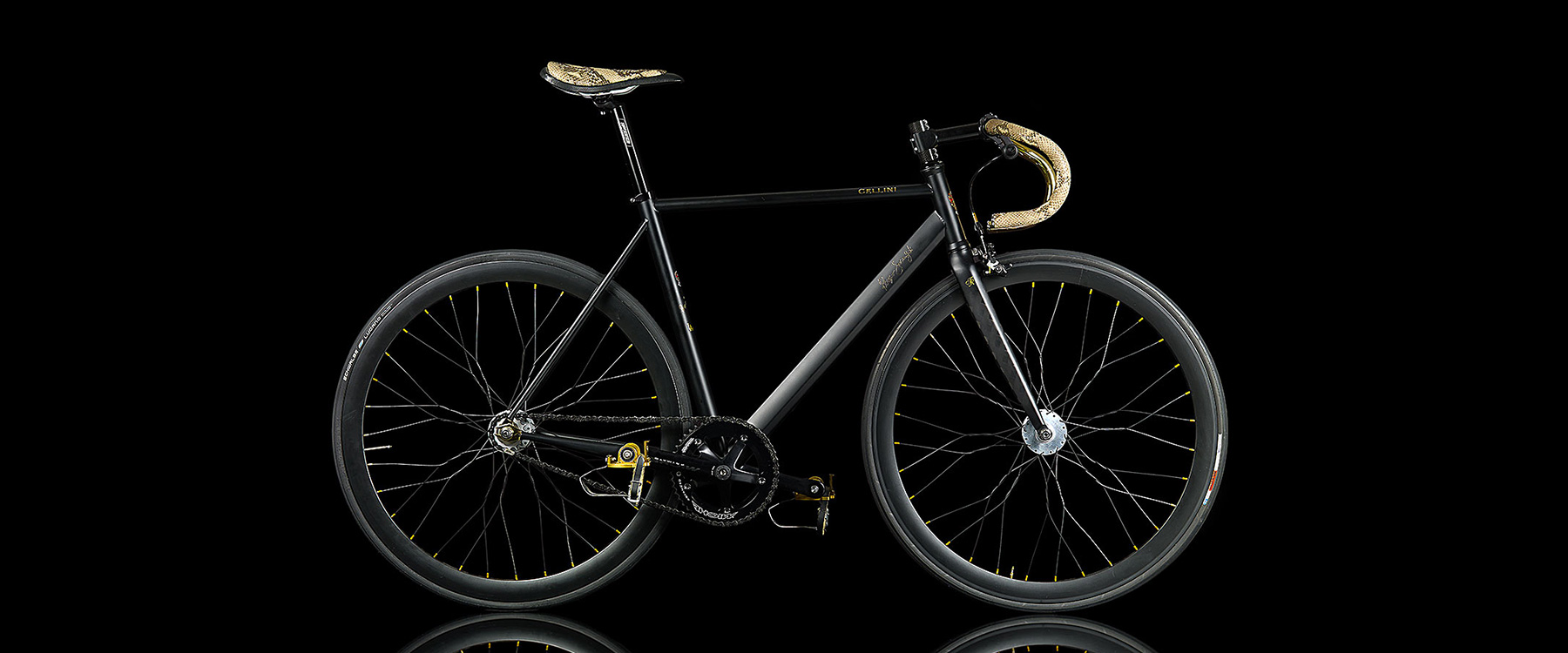 Hipster Luxury: This Over-The-Top Fixie Has 24K Gold and Snakeskin Handlebars