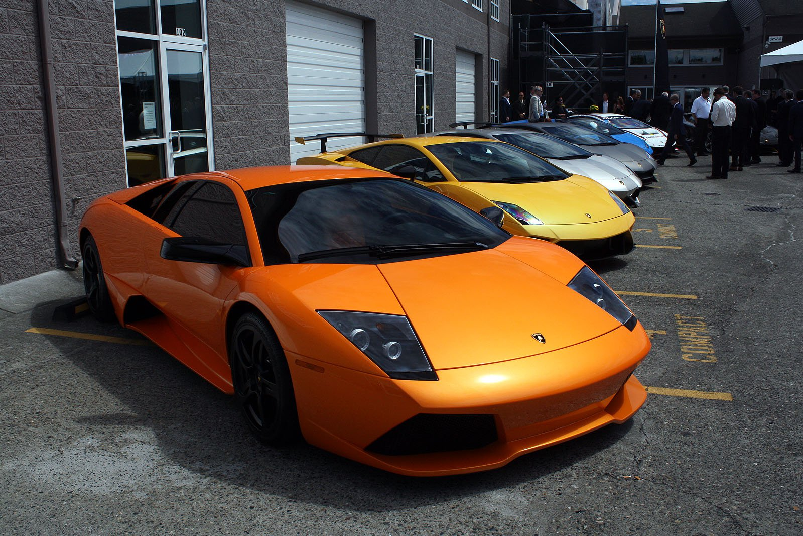 Gallery: Sexy Lamborghinis Attend Grand Opening of New Carbon Fiber Lab